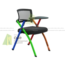 ОФМЕ представляет складной стул со столиком-пюпитром Zi (Зи) в различных цветовых решениях каркаса.
